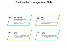 Participative Management Style Ppt Powerpoint Presentation Pictures Graphic Tips Cpb
