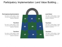 Participatory Implementation Land Value Building Version Product