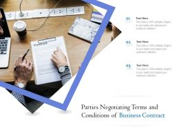 Parties Negotiating Terms And Conditions Of Business Contract