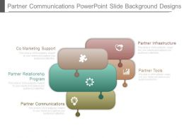 Partner Communications Powerpoint Slide Background Designs
