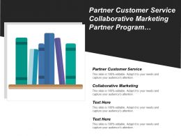 Partner Customer Service Collaborative Marketing Partner Program Management