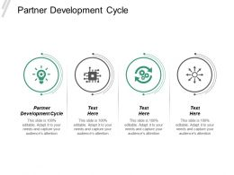 Partner Development Cycle Ppt Powerpoint Presentation Infographics Vector Cpb