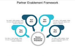 Partner Enablement Framework Ppt Powerpoint Presentation Slides Graphics Template Cpb