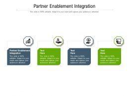 Partner Enablement Integration Ppt Powerpoint Presentation Inspiration Cpb