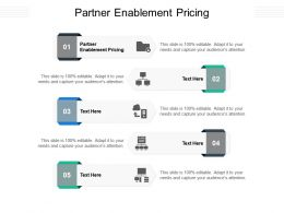 Partner Enablement Pricing Ppt Powerpoint Presentation Infographics Pictures Cpb