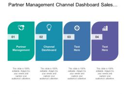 Partner Management Channel Dashboard Sales Dashboard Services Request