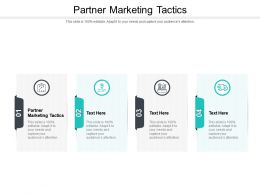Partner Marketing Tactics Ppt Powerpoint Presentation Slides Demonstration Cpb