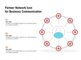 Partner Network Icon For Business Communication
