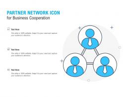Partner Network Icon For Business Cooperation