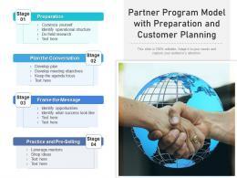 Partner Program Model With Preparation And Customer Planning