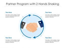 Partner Program With 2 Hands Shaking