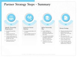 Partner Strategy Steps Summary Bidding M1528 Ppt Powerpoint Presentation Show Graphics Download