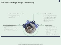 Partner Strategy Steps Summary Ppt Powerpoint Presentation Gallery Images