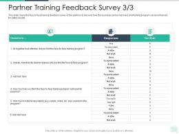 Partner Training Feedback Survey Achieved Reseller Enablement Strategy Ppt Brochure
