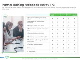 Partner Training Feedback Survey Participation Implementing Enablement Company Better Sales Ppt Images