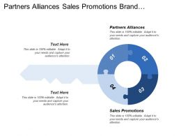 Partners Alliances Sales Promotions Brand Awareness Marketing Collateral