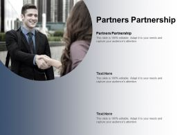 Partners Partnership Ppt Powerpoint Presentation Infographic Template Format Cpb