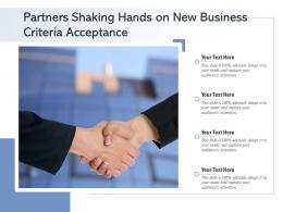 Partners Shaking Hands On New Business Criteria Acceptance