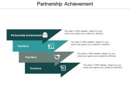Partnership Achievement Ppt Powerpoint Presentation Ideas Maker Cpb