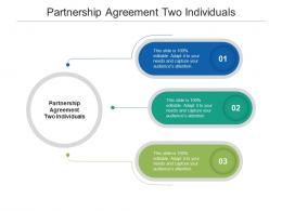 Partnership Agreement Two Individuals Ppt Powerpoint Presentation Professional Cpb