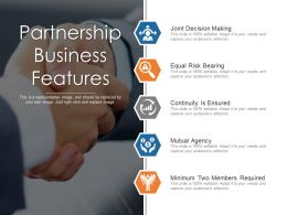 Partnership Business Features Powerpoint Slide Background