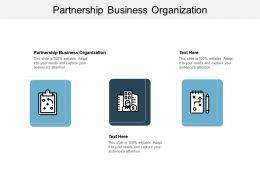 Partnership Business Organization Ppt Powerpoint Presentation Inspiration Guide Cpb