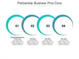 Partnership Business Pros Cons Ppt Powerpoint Presentation Show Professional Cpb