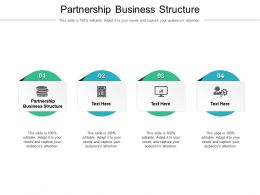 Partnership Business Structure Ppt Powerpoint Presentation Infographic Template Display Cpb