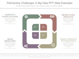 Partnership Challenges In Big Data Ppt Slide Examples