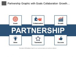 Partnership Graphic With Goals Collaboration Growth And Ideas