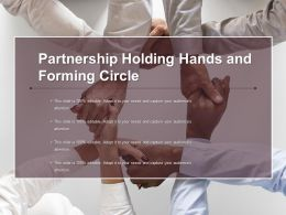Partnership Holding Hands And Forming Circle