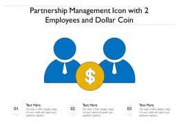 Partnership Management Icon With 2 Employees And Dollar Coin
