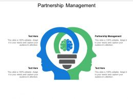 Partnership Management Ppt Powerpoint Presentation Icon Infographic Template Cpb