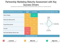 Partnership Marketing Maturity Assessment With Key Success Drivers