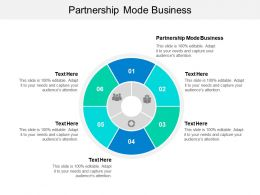 Partnership Mode Business Ppt Powerpoint Presentation Ideas File Formats Cpb