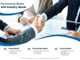 Partnership Model With Industry Needs