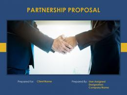 Partnership Proposal Powerpoint Presentation Slides