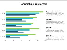 Partnerships Customers Ppt Powerpoint Presentation Ideas Portfolio Cpb