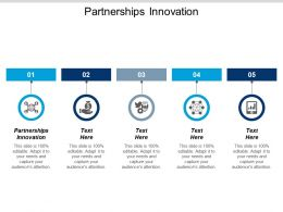 Partnerships Innovation Ppt Powerpoint Presentation Gallery Graphics Download Cpb