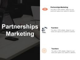 Partnerships Marketing Ppt Powerpoint Presentation Layouts Design Ideas Cpb