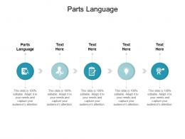 Parts Language Ppt Powerpoint Presentation Summary Icons Cpb
