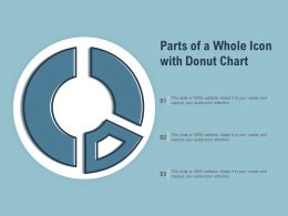 Parts Of A Whole Icon With Donut Chart
