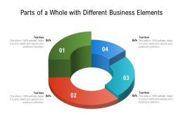 Parts Of A Whole With Different Business Elements