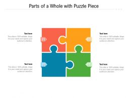 Parts Of A Whole With Puzzle Piece
