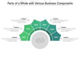 Parts Of A Whole With Various Business Components