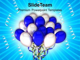 Party Balloons Entertainment Powerpoint Templates Ppt Themes And Graphics 0313