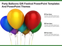 Party Balloons Gift Festival Powerpoint Templates And Powerpoint Themes