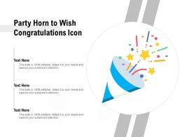 Party Horn To Wish Congratulations Icon