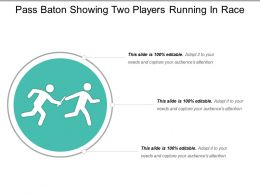 Pass Baton Showing Two Players Running In Race