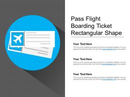 Pass Flight Boarding Ticket Rectangular Shape